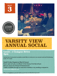 VVCA Annual Social & Fundraising Event 2014 Poster