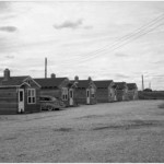 Cabins at George Blouin's Auto Court Photograph B-2344 by Leonard A. Hillyard courtesy Saskatoon Public Library- Local History Room.