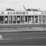 OK Economy Store and Clarence Avenue Pharmacy Photograph CP-5300-2 courtesy Saskatoon Public Library- Local History Room.