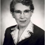 University of Saskatchewan, University Archives & Special Collections, Photograph Collection, A-6356. Edith C. Rowles Simpson- Portrait, ca. 1949.