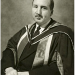 University of Saskatchewan, University Archives & Special Collections, Photograph Collection, A-8516. Portrait of John William Tranter Spinks, ca. 1960.